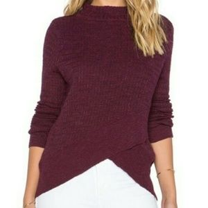 Free People Mock Neck Asymmetrical Hem Sweater